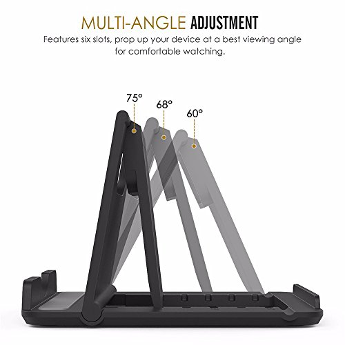 Dot9ti9 Mobile Stand Holder (Pack of 1) Big Size Universal Adjustable 5 Steps Fold-able for All Phone Tablet Desk (Assorted Color) 10