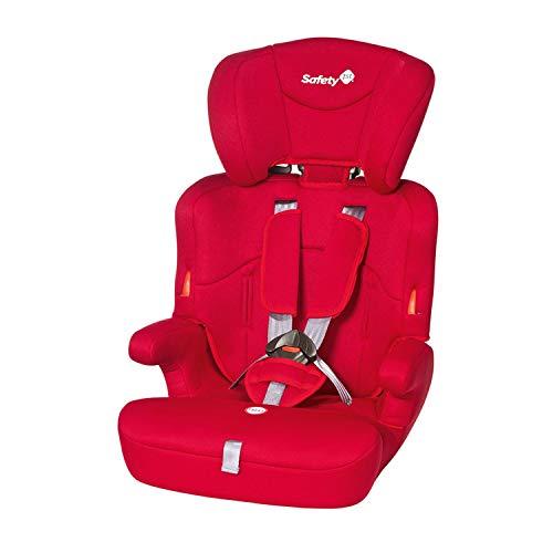 Safety 1st Ever Safe Seggiolino Auto 9-36 Kg, Gruppo 1 2 3 per Bambini dai 9 Mesi fino ai 12 Anni, Facile da Installare, Colore Rosso Full Red
