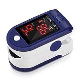 Pulsómetro Digital Oxímetro de Pulso Pulsioxímetro de Dedo con Pantalla LED,...