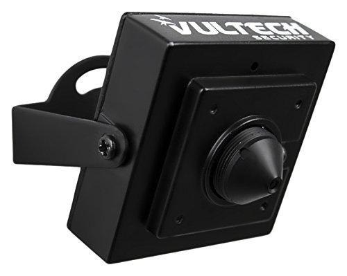 VulTech Security CM-PH960AHD Telecamera, PinHole, AHD, 1/4', 1.3 mpx, 960 p, 3.7 mm, Nero