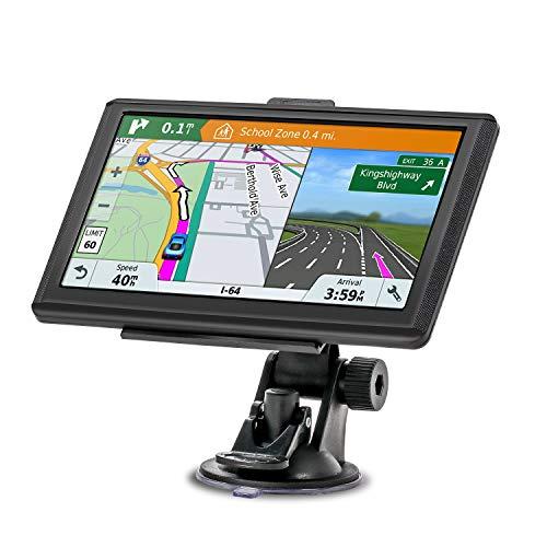 Navigationsgerät, MixMart GPS Navi Navigation 2019 7 Zoll Touchscreen Lebenslang Kostenloses Kartenupdate 128M/32GB 48 Karten für Europa für Auto PKW LKW KFZ (Mehrsprachig)