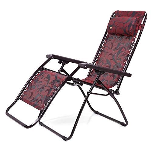 JN reclinabile Poltrone Blu Pigro Back Beach Fold Chair Casual Dormire Beach Chair Domestica Balcony Sedia Pieghevole Letto Pieghevole (Color : A)