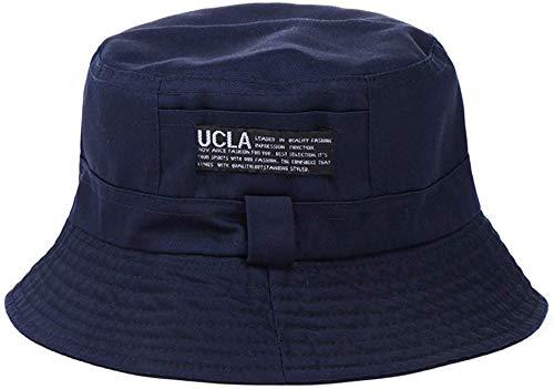 Zipper-G Bucket Hat Casual for Men Women   Outdoor Summer Travel Hiking Fishing Hunting Beach Wear   Cotton Silk Hats (Navy Blue)
