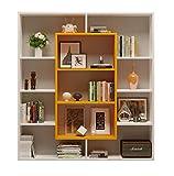 Homidea Venus Libreria - Scaffale - Scaffale da Ufficio - Divisorio per Soggiorno/Ufficio in Design Moderno (Bianco/Arancione)
