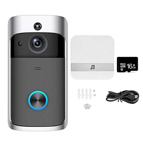 NANTING Video Citofono Wireless Video HD 720P, comunicazione a due vie, angolo di visione 166°...