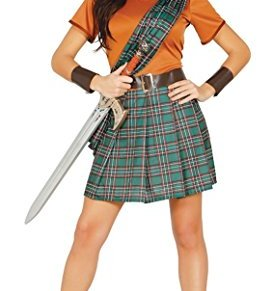 Disfraz de guerrera escocesa Braveheart