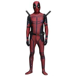 ASPIDER Marvel Deadpool cosplay traje leotardo adulto vestido de lujo bola spandex mono (Color : Adult, Tamaño : L)