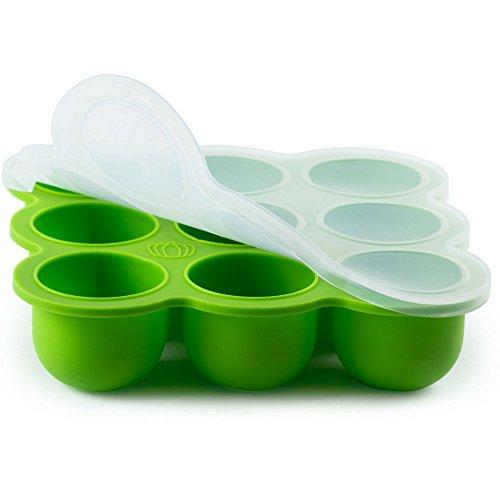 Vaschetta congelabile per alimenti da bimbo in silicone ecologico   9 tazze grandi (79 ml)  ...