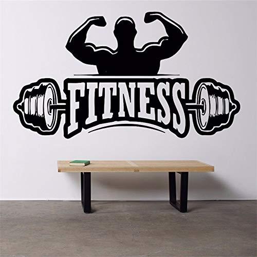 zqyjhkou 2018 New Wall Decor Vinile Sticker Murale Decalcomania di Arte Palestra Fitness Club Logo...