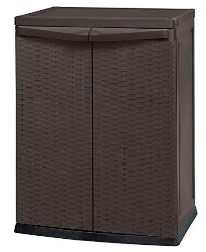 Keter 17190255 Rattan Style Mini Shed, Armadietto in plastica resistente, colore: Marrone