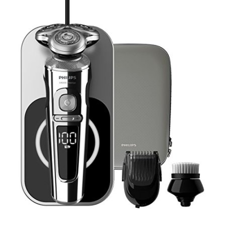 Philips-Serie-9000-Prestige-SP986314-Afeitadora-elctrica-con-bandeja-de-carga-Qi-cepillo-limpiador-facial-barbero-SmartClick-y-funda-premium