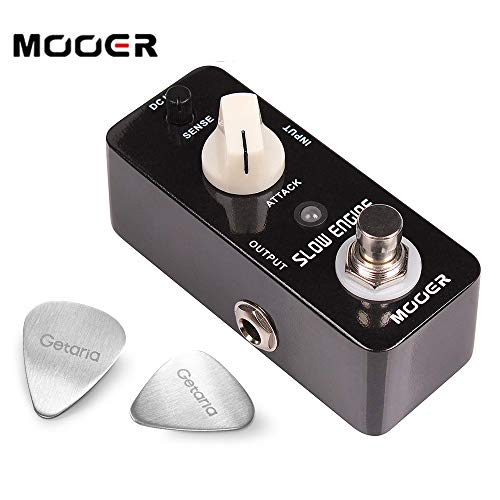 MOOER Acoustic Guitar Effect Pedal Slow Engine Volume Pedal with 2 Guitar Picks