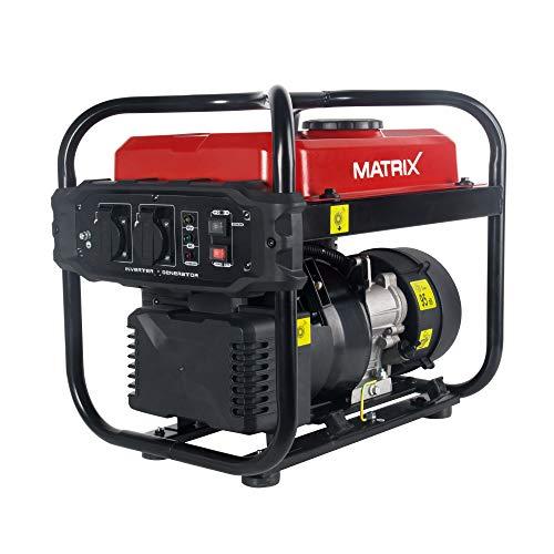 Generador de corriente Matrix 160100475Generadores de corriente, 2000W, gasolina, silencioso, 4del Motor, 10L de depósito.