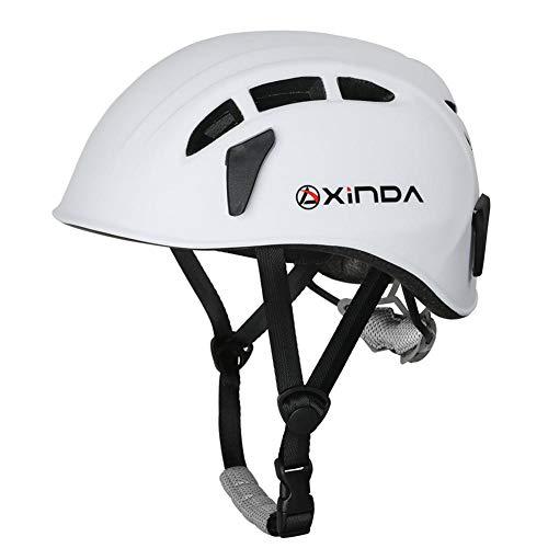 StageOnline Casco de Escalada y Alpinismo Universal - Casco de Seguridad para Hombres Mujeres niños Montañismo Escalada Protección para la Cabeza de Deportes al Aire Libre