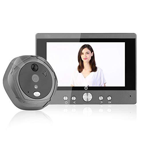 Campanello Video, 5 pollici Wifi Digital Citofono Campanello Spioncino Visore di casa Sicurezza...