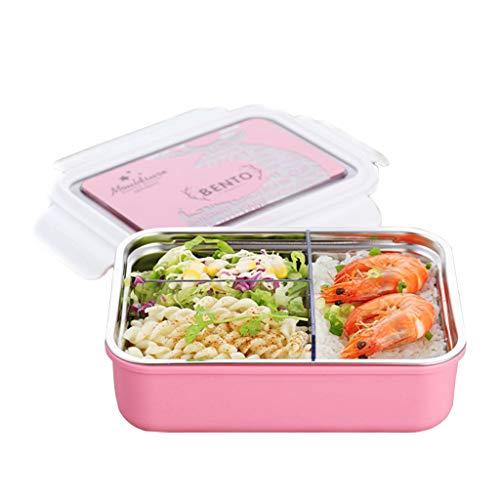 OldPAPA brotdose Kinder,Edelstahl Bento Lunchbox für Kinder Erwachsene, auslaufsichere Frischhaltedose, Schul-Lunch-Container, 3-Fach Mahlzeit Prep Bento Box BPA Frei