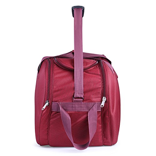 Bags Bazar Polyester 35 L Wine Red Soft Sided Travel Trolley Duffle Bag (20x8x14 Inch)