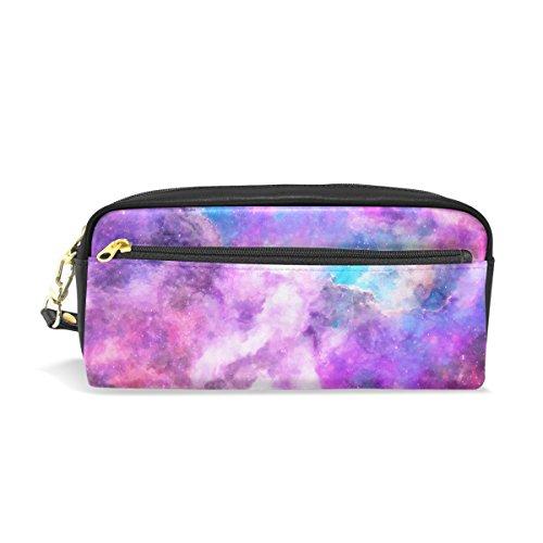 Mydaily viola Galaxy matita della penna borsa portamonete cosmetici