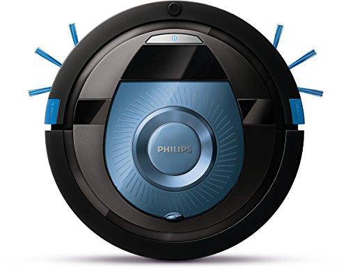 Philips Aspirazione SmartPro Compact FC8774/01 Robot Aspirapolvere, 0.4 Litri, 58 Decibel, Nero/Blu