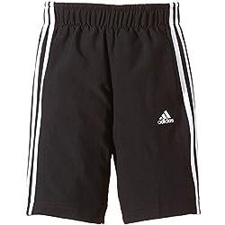 adidas Shorts Essentials 3-Stripes Woven Pantalón Corto Real Sociedad 1ª equipación 2015-2016, niño, (Negro/Blanco), 152