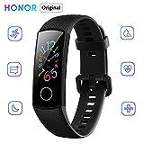 "Honor Band 5 Reloj Inteligente 0.95 ""AMOLED Pantalla a color 50M Monitor de ritmo cardíaco a prueba de agua Pulseras para diferentes modos de deporte (Negro)"