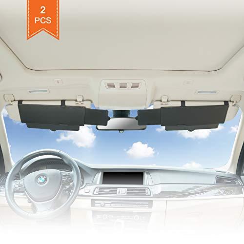 TFY Sonnenblende/Sonnenblende für Das Auto, Blendschutz, Verlängerung für Sonnenblende und UV-Strahlen, Schwarz, 2 Stück