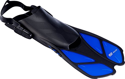 IST Sports FK09 - Pinne da Snorkeling per Bambini, Taglia 34-38, FKE-27 Blu Misura 40-44