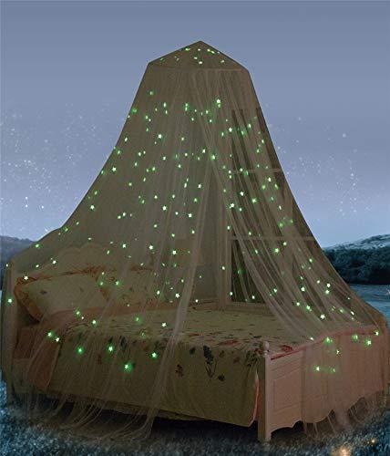 baldacchino per letto con stelle fluorescenti, fantastica idea regalo per neonati, bambini, ragazzi,...