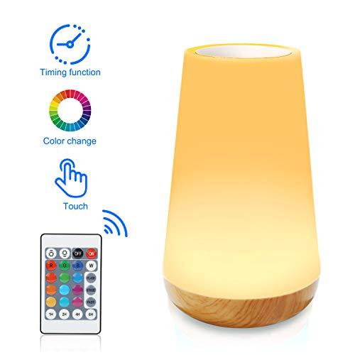 Lampada da comodino a LED dimmerabile ricaricabile a LED, Luce notturna da con telecomando, 3 tipi...