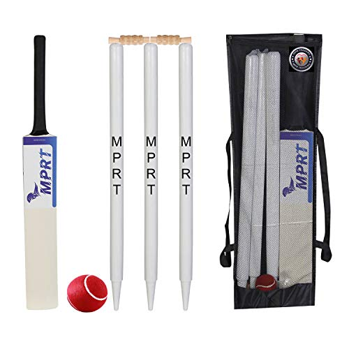 MPRT Wooden Cricket Kit for Tennis Ball Combo for Age Group 12-14 Years, Size 5