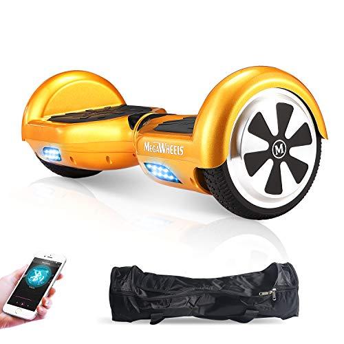 M MEGAWHEELS Hoverboard , 6.5' Monopattino Elettrico Con Bluetooth - 500 W Motore - Borsa Inclusa