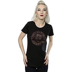 Guns N Roses mujer Sepia Bullet Logo Camiseta Small Negro