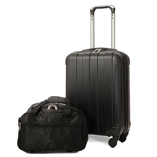 EONO Essentials Trolley in ABS - bagaglio a mano 55x35x20 cm - Valigia rigida, guscio duro e...