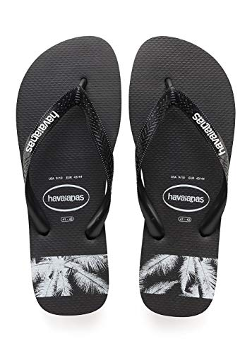 Havaianas Top Stripes Logo, Infradito Uomo, Multicolore (Black/Black 1069), 43/44 EU (41/42...