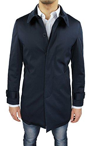 Cappotto Soprabito Uomo Blu Scuro Sartoriale Slim Fit Giaccone Invernale Casual Elegante Taglia S M L XL XXL 3XL (L, Blu Scuro)