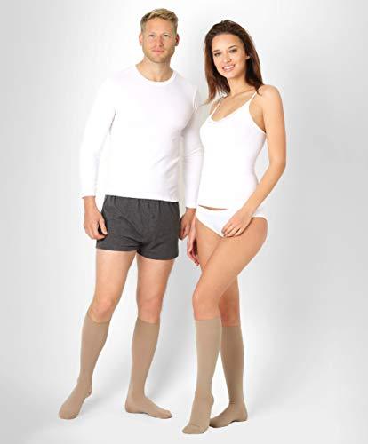 BeFit24 Calze elastiche a compressione graduata (23-32 mmHg, 120 Denari, Classe 2) per uomo e donna...