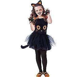 Rubie's - Disfraz infantil de gatita Tutuween para niña, color negro, S (S8410-S)