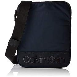 Calvin Klein - Shadow Flat Crossover, Shoppers y bolsos de hombro Hombre, Negro (Navy), 2x26x21 cm (B x H T)
