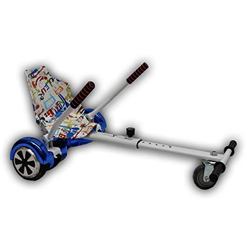 GadgetFinder graffiti bianco sedile con Whitehoverkart Hover kart carrello Go Kart Racer Gokart...