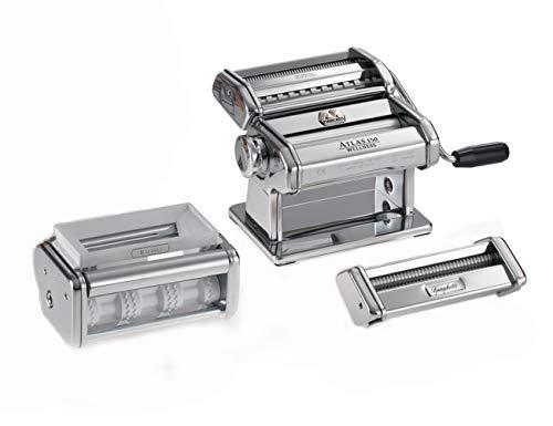 Marcato GS-PASTASET Macchina per Pasta Manuale con Inclusi Accessori per Ravioli e Spaghetti,...