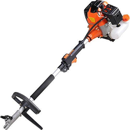 Todeco - Multifunction Garden Tool, Petrol Multi Tool - Engine displacement: 52 cm³ - Function: Pruner trimmer - Orange, 5 in 1