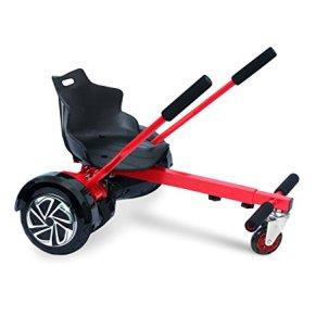 Asiento adaptable para HOVERBOARD ajustable de 6,5 a 10 pulgadas de las ruedas - Rojo