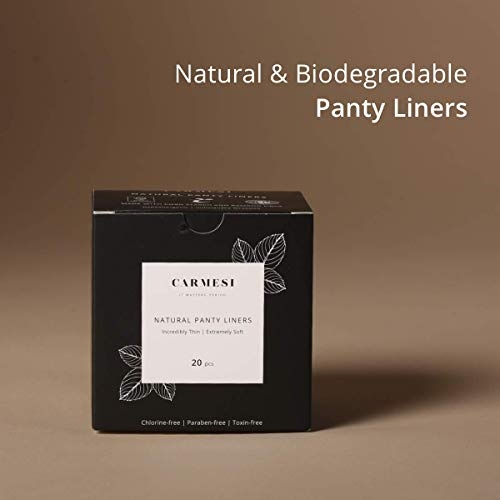Carmesi Natural & Biodegradable Panty Liners - 20 Pieces