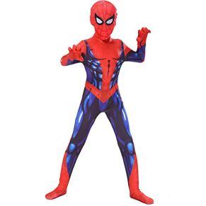 ZUOZHE Spiderman Adulto Nios Expedición De Héroes Cosplay Spider-Man Pelicula Mascarada Traje De Halloween Traje De Impresión 3D Spandex Lycra,100CM(S)