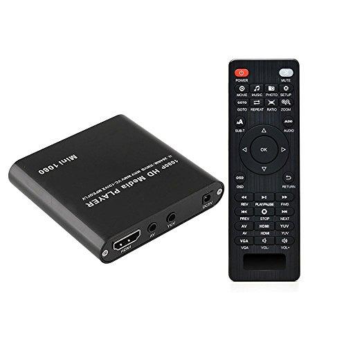 AGPTEK MKV media player 1080P HD Digital Media Player - MKV/RM - HDD SD/USB - HDMI Supporto HDMI...