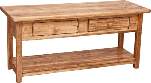 Biscottini Mobile porta tv Contry in legno massello di tiglio finitura naturale 110x40x50 cm