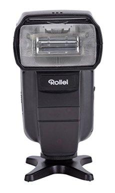 Rollei Flash Unit 56 - Dispositivo de flash para Canon y Nikon (Guía n.º 56, TTL de flash operativos, Master/Slave/Manual operativos, color negro