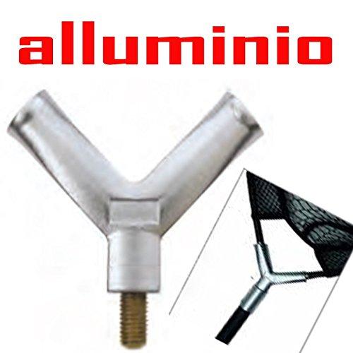 Ricambio Testa guadino carpfishing in Alluminio Croce Forcella palo Manico Carpa