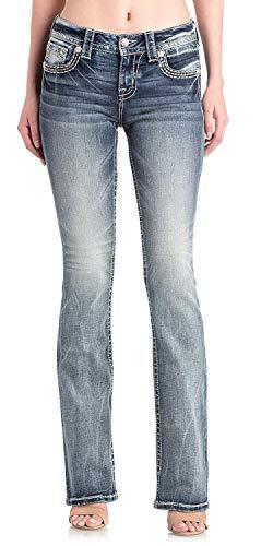 Miss Me - Damen Chloe Boot M3292B Jeans, 26, Denim M557
