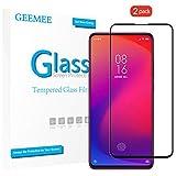 GEEMEE pour Xiaomi Mi 9T Redmi K20 /Xiaomi Mi 9T Pro Redmi K20 Pro Verre trempé,2 Pack 9H Haute Sensibilité Protection D'écran Film, Ecran Couverture Complète Anti-Rayures Screen Protector (Noir)